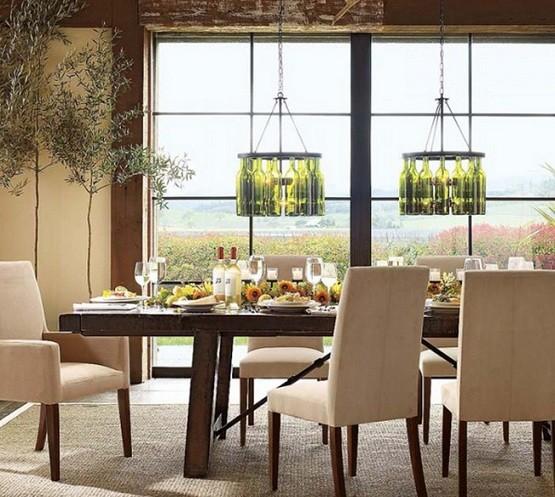 Contemporary dining room lighting ideas homeposh home interiors - Awesome contemporary dining room lighting ...