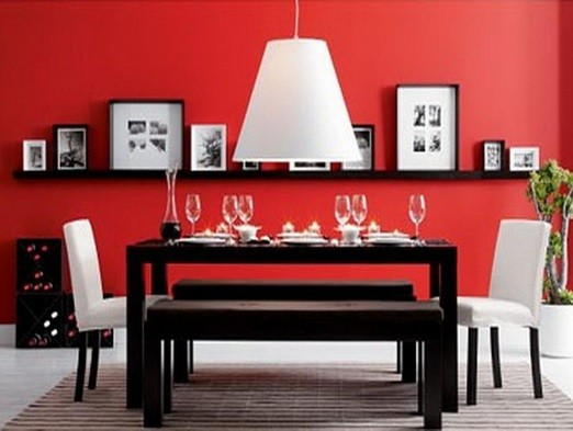 Some ideas of dining room table with benches home interiors - Dining room designs for small spaces ...
