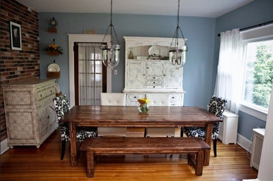 Kristen Farmhouse Dining Table Sets And Bench Home Interiors