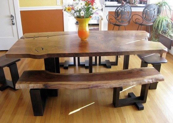 Some Ideas Of Dining Room Table With Benches Rustic