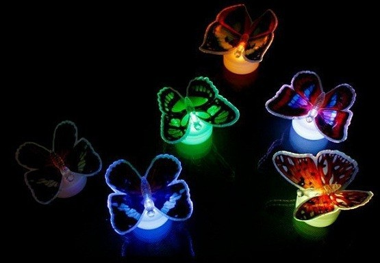 Colorful butterfly lights for bedroom