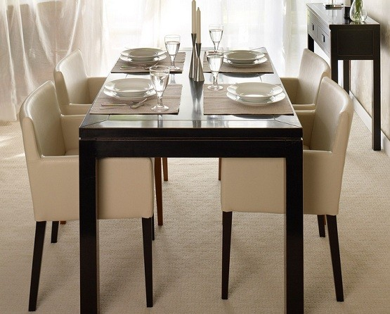 Oriental Leather Low Back Dining Chairs Home Interiors