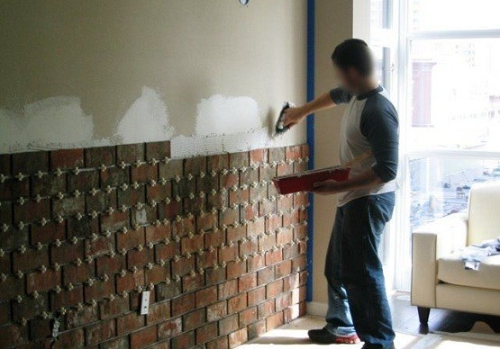 Interior Brick Wall Installation DIY