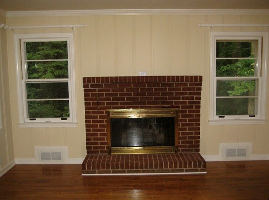 Installing Fireplace With Brick Wall Home Interiors