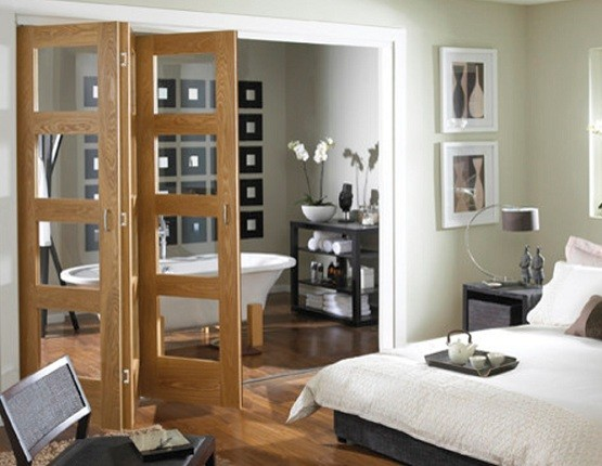 Bifold French doors interior styles