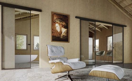 Custom interior glass sliding doors