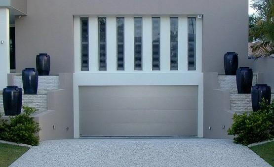 Contemporary aluminum garage doors design