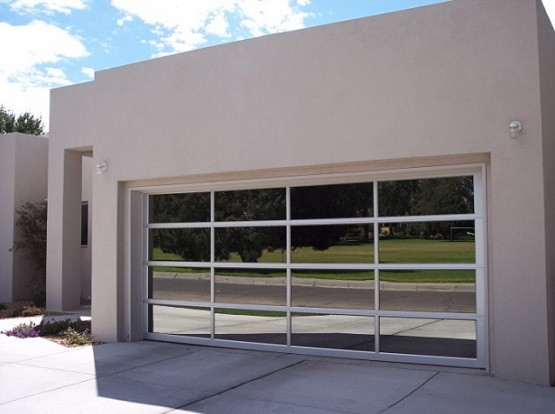 Contemporary glass garage doors & Aluminum Garage Doors Find The Best One For You | Home Interiors