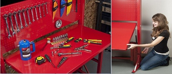 Garage folding workbench ideas
