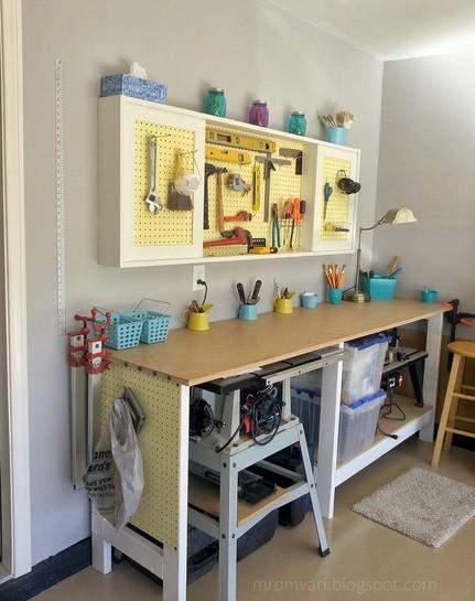 Garage workbench and accessories