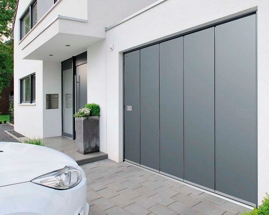 metal sliding garage doors grey - Sliding Garage Doors
