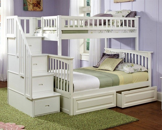 White Bunk Beds With Storage And Its Advantages White Twin Bunk