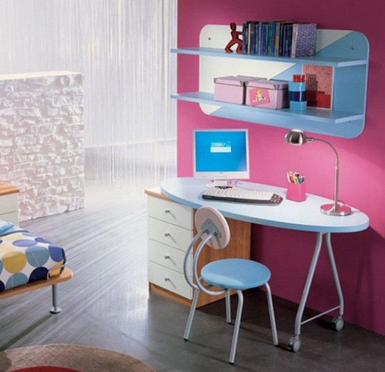 Simple design desks for kids from IKEA