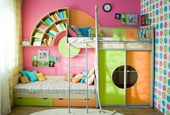 Amazing design twin storage beds with beautiful bookcase