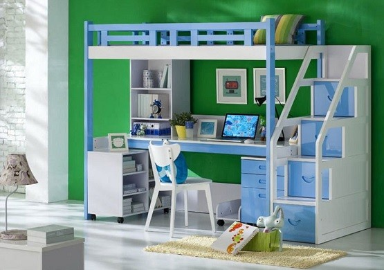bunk beds with stairs and desk. kids alley david loft bunk bed