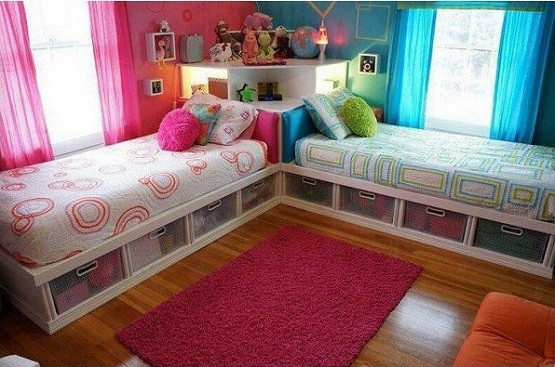 Diy twin storage bed for kids