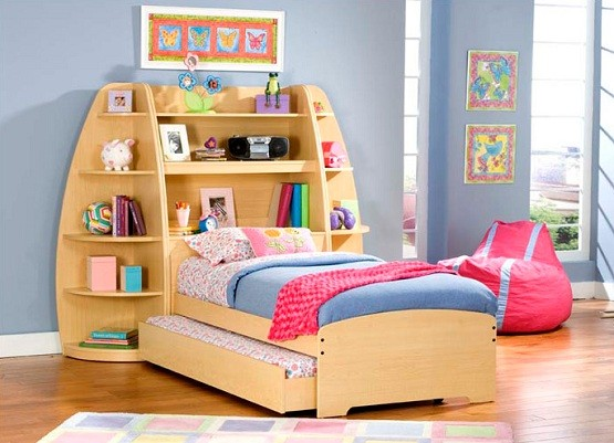 Kids Storage Beds With Bookcase