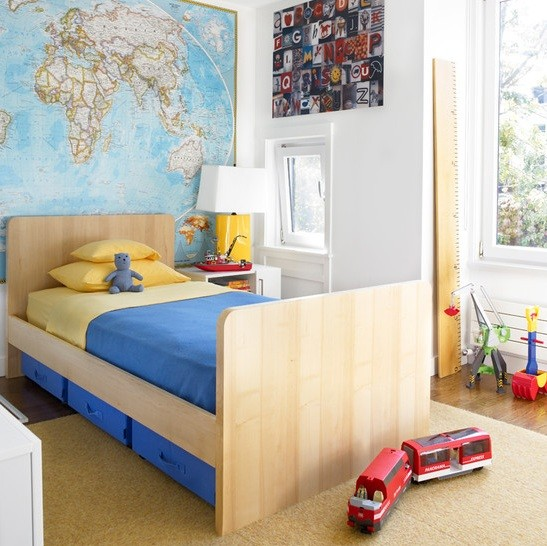 Storage beds for toddler with simple design