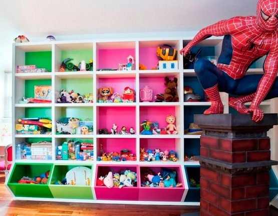 Toy storage solution for kids room