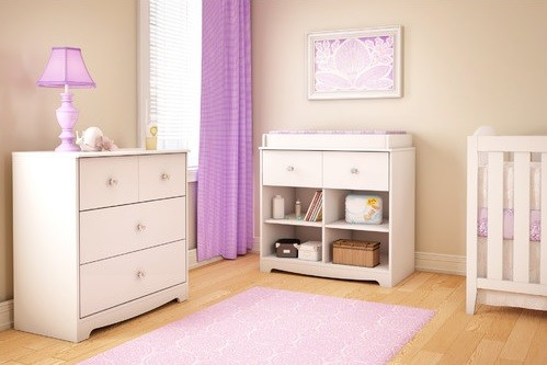 Pink chest with 3 drawer baby furniture sets