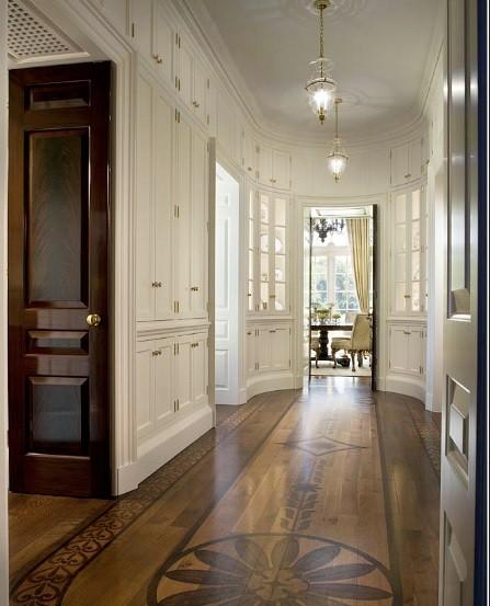 Wood floor classic look for hallways - Best Flooring For Hallways Home Interiors