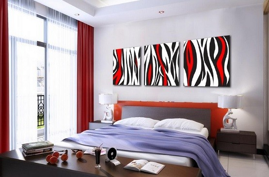 Amazing bedroom wall art you can create yourself home Red bedroom wall painting ideas
