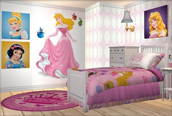 how to decorate disney princess bedroom set for your 15175 | disney princess wall stickers bedding sets
