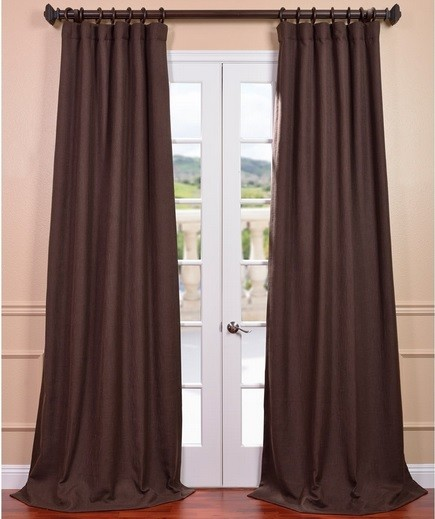 Luxurious looks linen curtains for patio doors