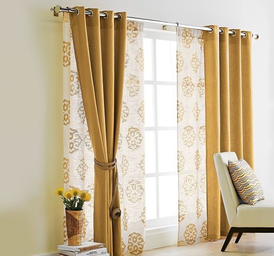 Curtain Ideas For Sliding Glass Door: Curtains For Sliding Glass Doors Ideas On Your Living Room