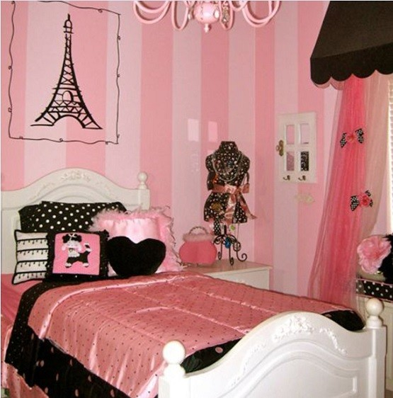 Paris themed bedrooms ideas for girls bedroom
