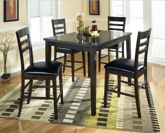 Rectangular counter height dining room sets