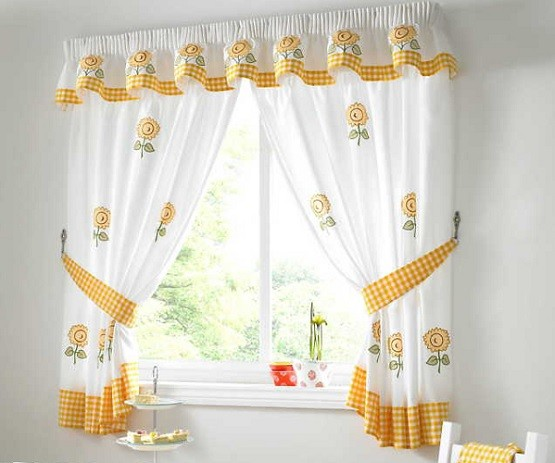kitchen curtains for your home selection tips white and yellow