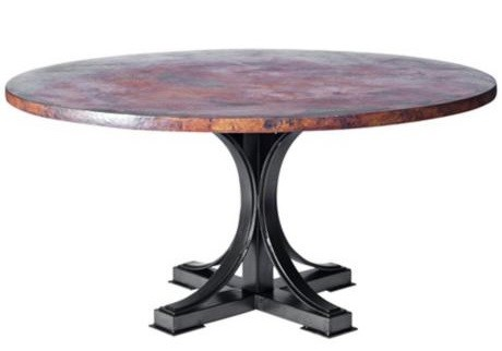72 inch round rustic dining table