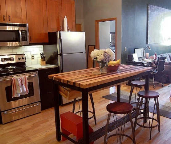 Marvelous Butcher Block Dining Table For Small Kitchen Home Design Ideas