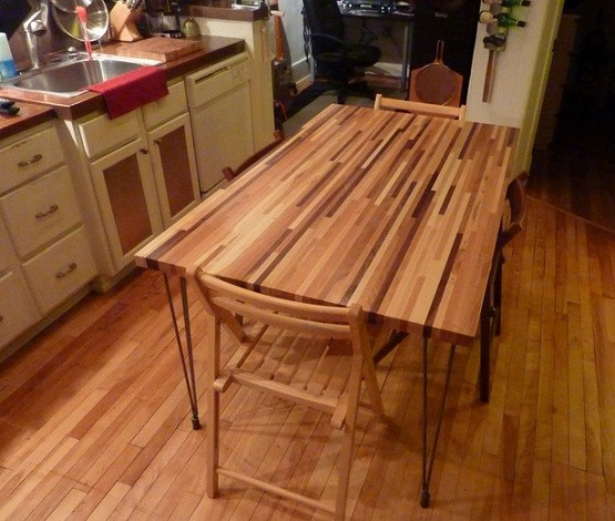 DIY Butcher Block Dining Table Design Home Interiors