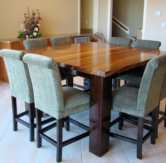 Modern butcher block dining table home interiors - Butcher block kitchen table set ...