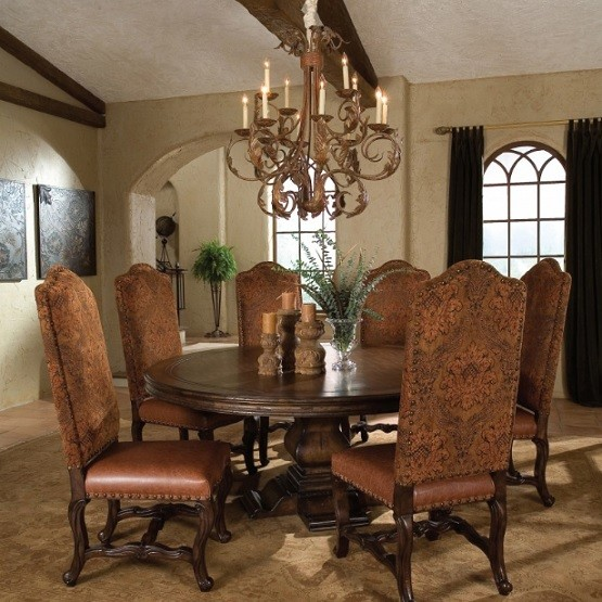 Solid hardwood  72 inch round dining table