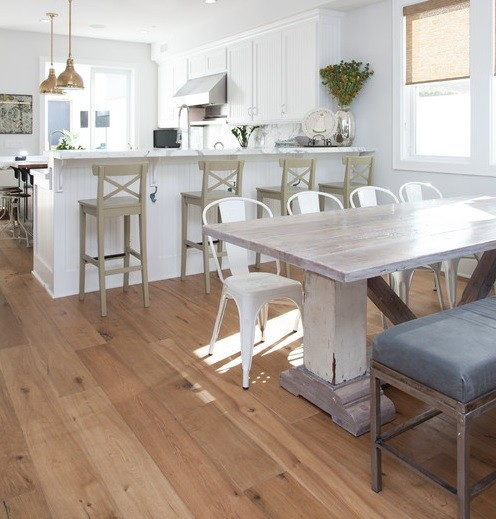 White Wood Dining Room Table: Capture Beauty By Distressed Wood Dining Table