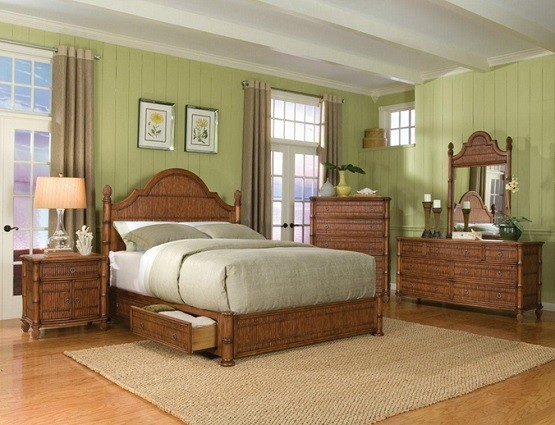 Bamboo Bedroom Furniture With Dressing Table