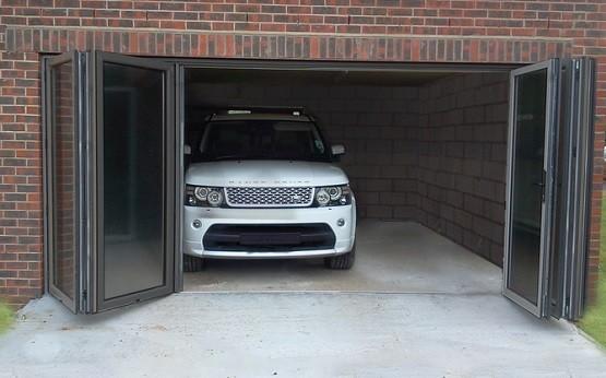 Bi Fold Garage Doors Glass Home Interiors