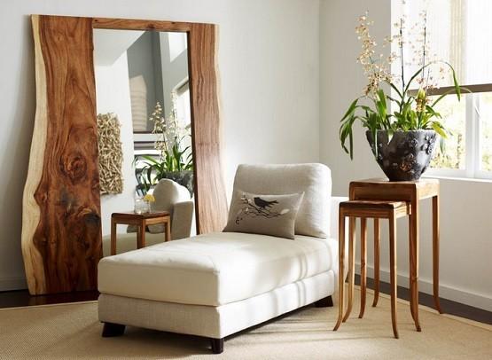 Big rustic mirror for bedroom decor