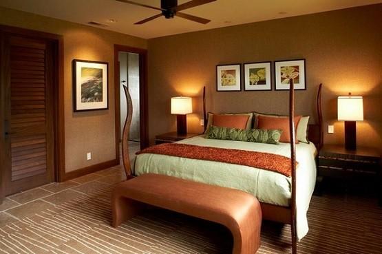 Brown bedroom bench for modern bedroom