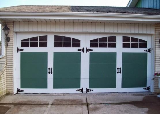 Carriage garage door window inserts