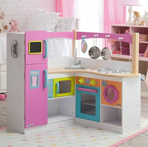 Complate wooden play kitchen sets