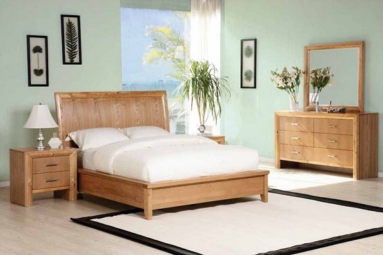 Contemporary bamboo bedroom furniture set