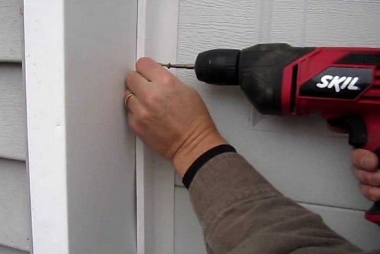 DIY garage door weather stripping