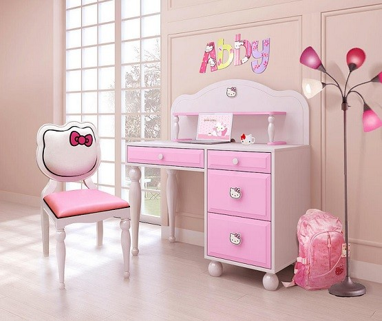 Hello Kitty Desk And Chair Bedroom Furniture Home Interiors