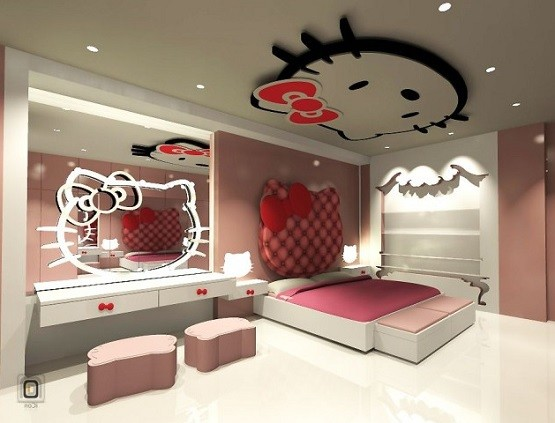 Hello Kitty Bedroom Furniture Design Ideas Home Interiors