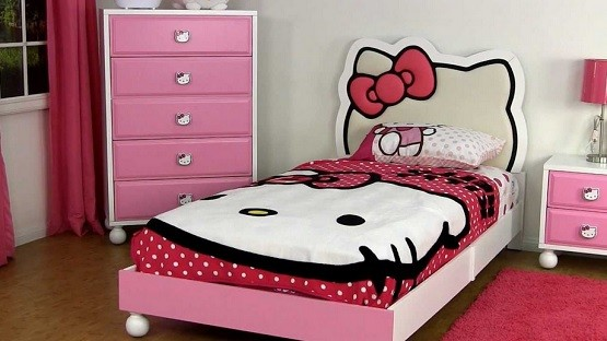 hello kitty bedroom furniture design ideas home interiors 15539 | hello kitty kids bed furniture