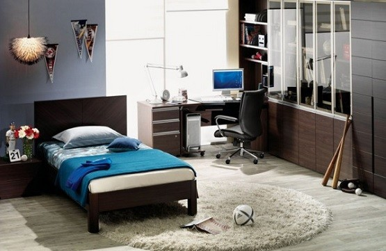 Teen boy bedroom ideas to make bedroom looks cute home - Bedroom ideas for teenage guys with small rooms ...